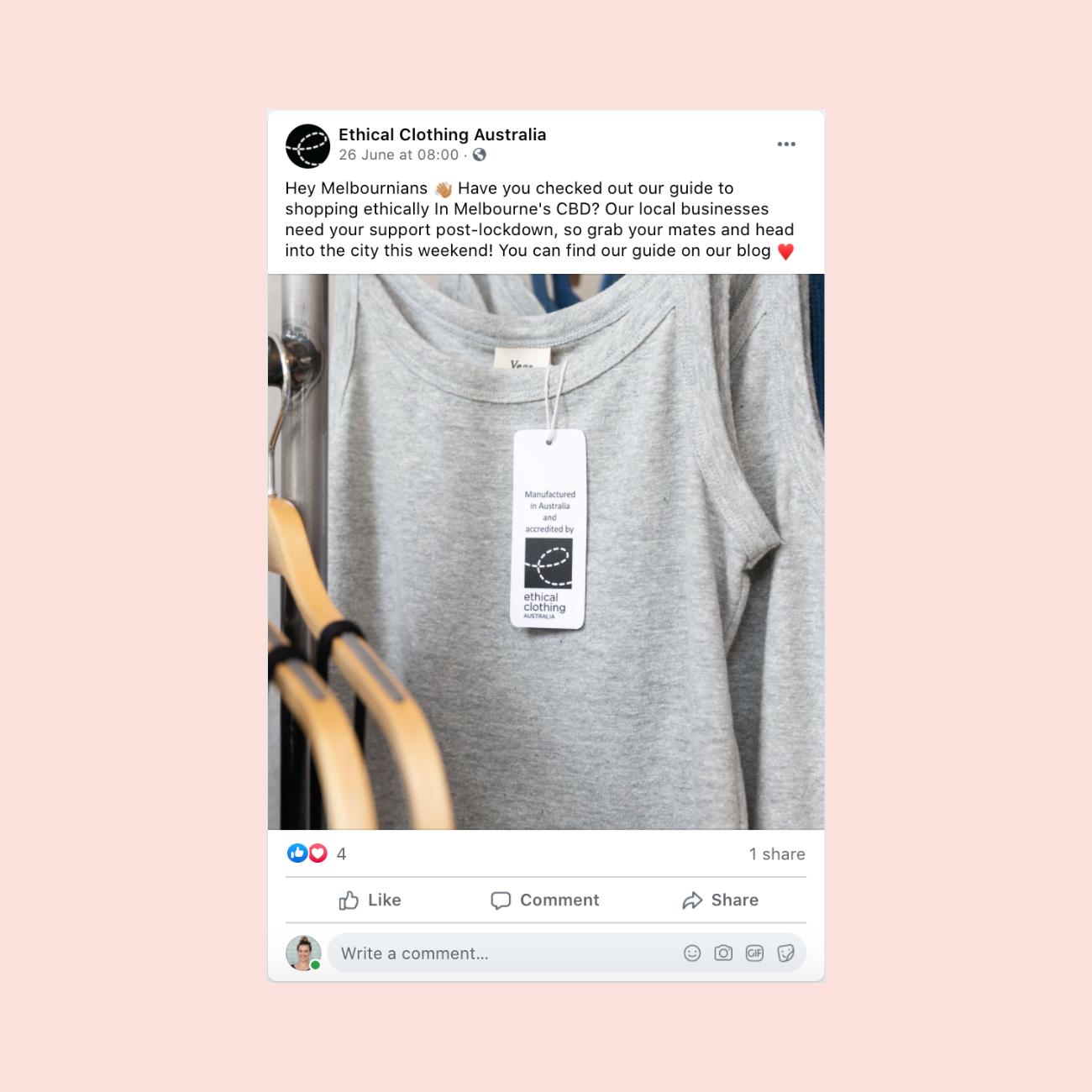 Ethical Clothing Australia SEO copywriting